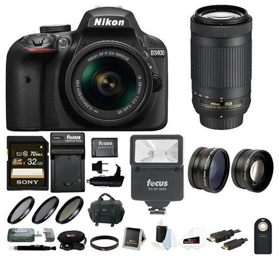 Best Nikon D3400 Bundles and Deals