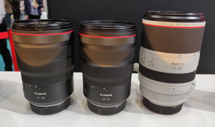 Canon RF 15-35, 24-70, 70-200mm f/2.8L IS Lenses to be Released in July
