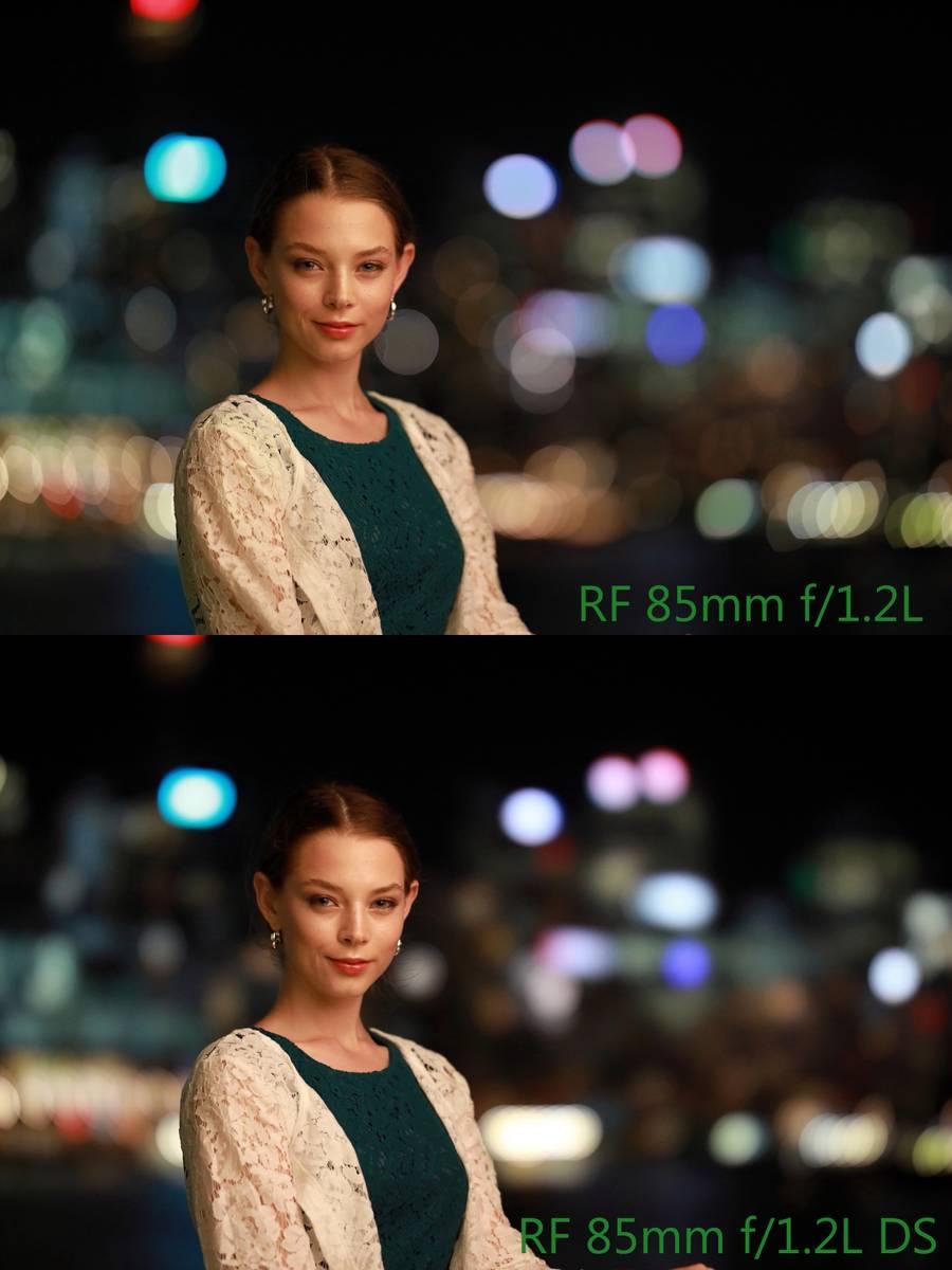Comparison: RF 85mm f/1.2L USM Vs. RF 85mm f/1.2L USM DS