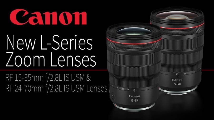 Canon RF 15-35mm f/2.8L IS & RF 24-70mm f/2.8L IS USM Lenses now in Stock