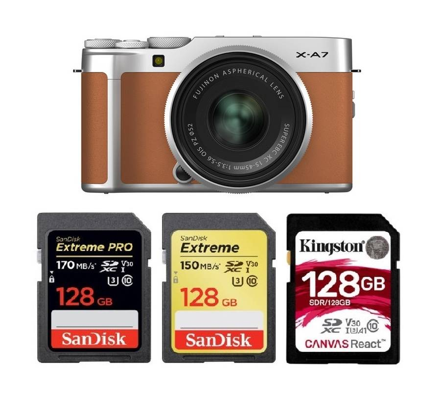 Best Memory Cards for FujiFilm X-A7