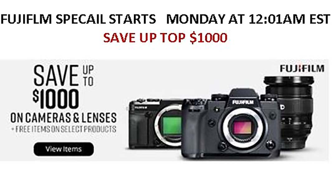 New Fujifilm Savings – Save up to $500 on Fujifilm X-T3 and X-T30 Body