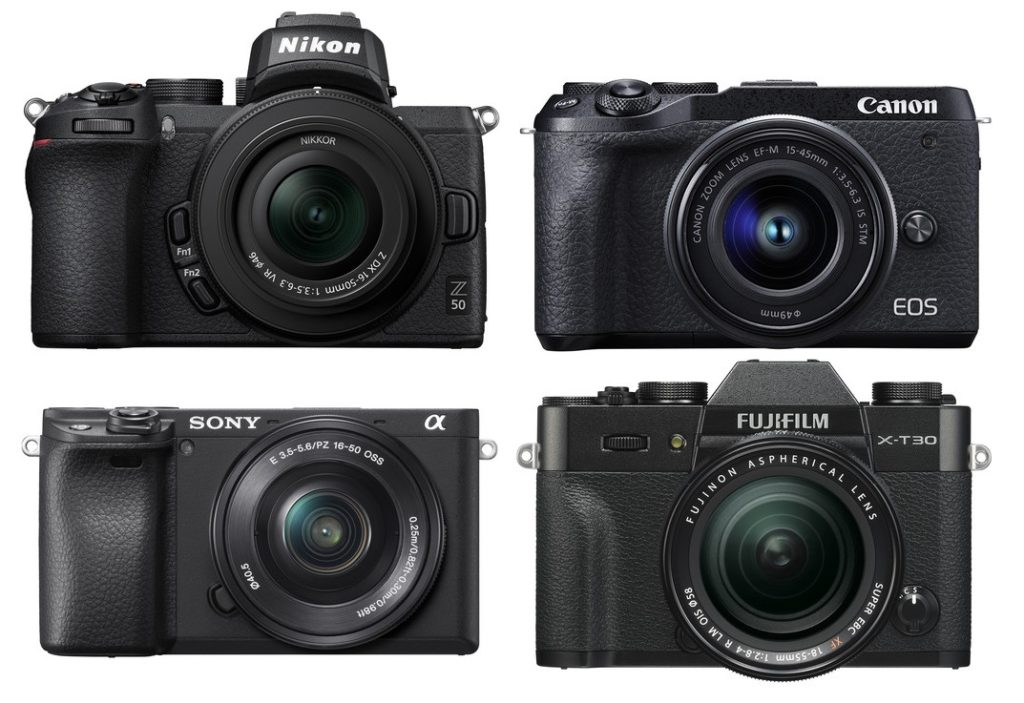 Nikon Z50 vs Canon EOS M6 Mark II vs Sony a6400 vs Fujifilm X-T30 Specs Comparison
