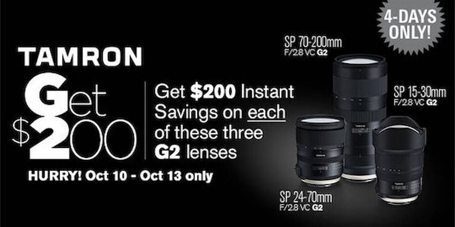 New Tamron Rebates on the 15-30mm f/2.8, 24-70mm f/2.8 and 70-200mm f/2.8 Lenses