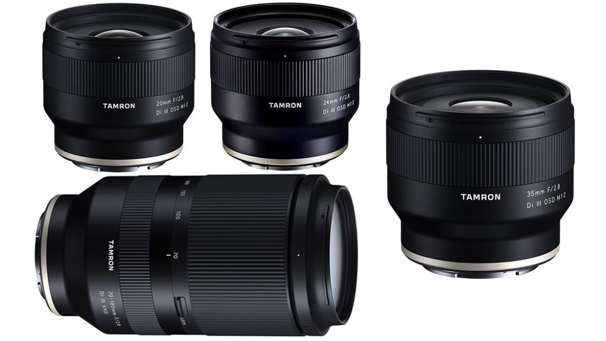Tamron Announced 4 New FE Lenses for Sony E-mount