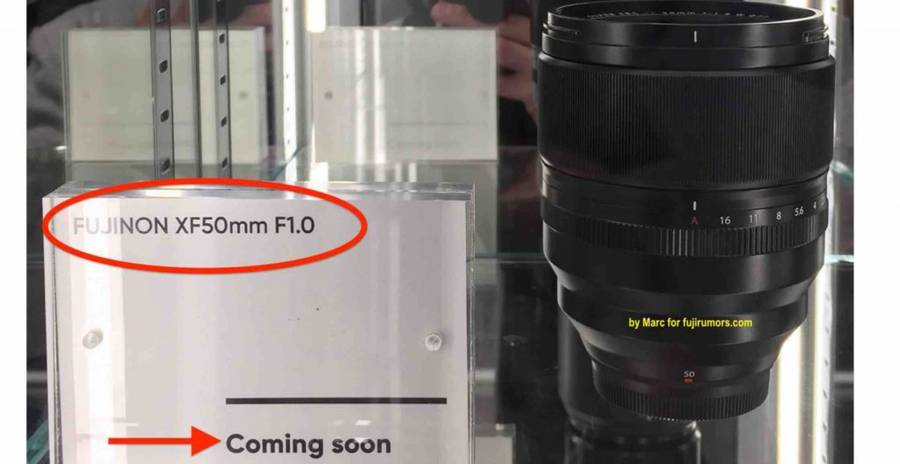 Fujifilm XF 50mm f/1.0 R WR Lens to be Announced Soon