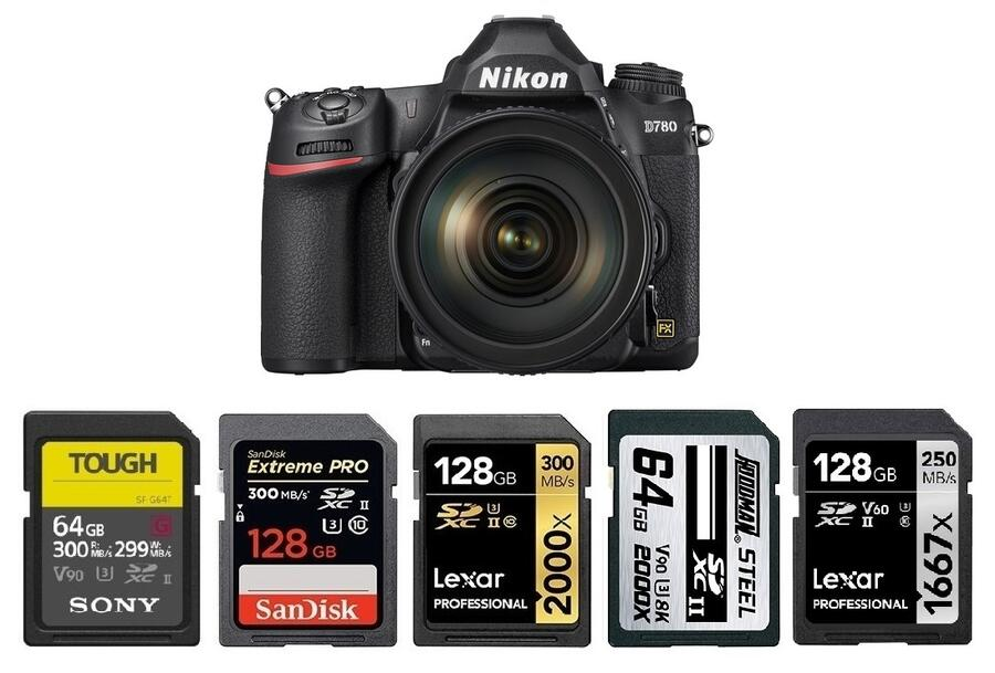Best Memory Cards for Nikon D780