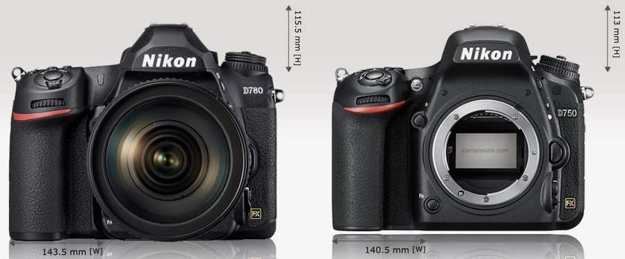 Nikon D780 vs. Nikon D750 – Comparison