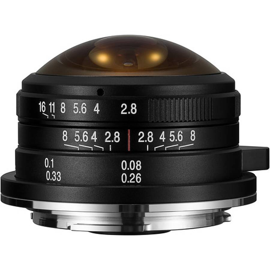 Laowa 4mm f/2.8 Fisheye Lens Announced for Sony E, Fuji X, and Canon EF-M