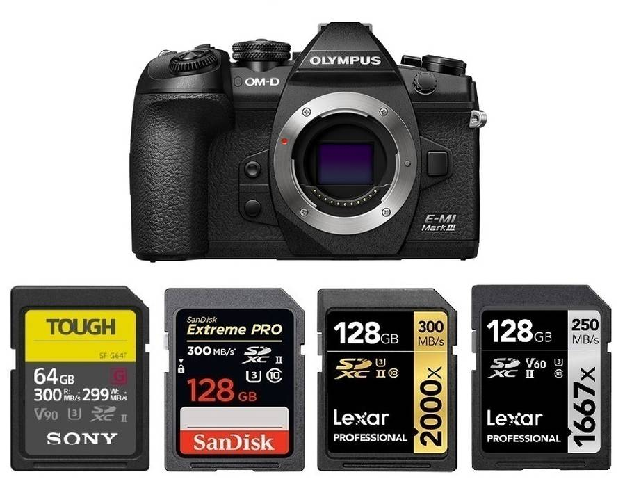 Best Memory Cards for Olympus OM-D E-M1 Mark III