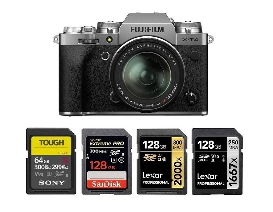 Best Memory Cards for Fujifilm X-T4