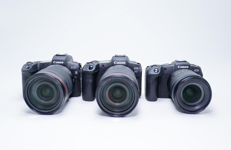 Size Comparison of Canon EOS R5, Canon EOS R and Canon EOS RP