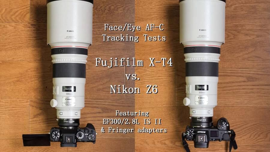 Fujifilm X-T4 vs Nikon Z6 With Canon EF 300mm f/2.8L IS USM II