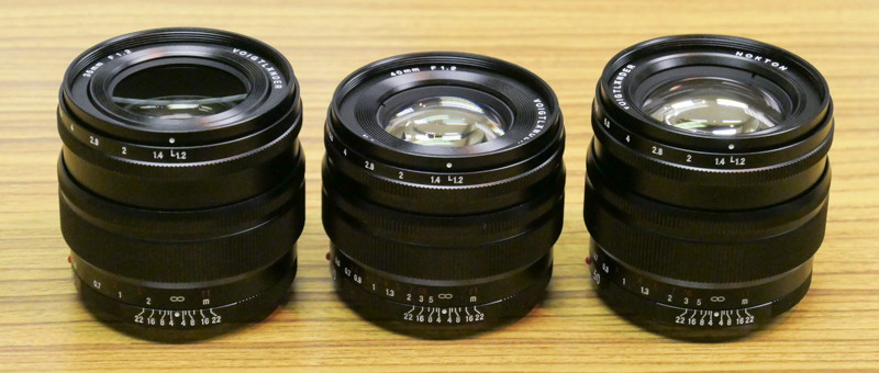 Release Dates for Voigtlander SE lenses for Sony E-mount