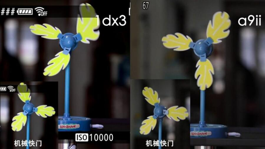Rolling Shutter Test : Canon EOS-1D X Mark III vs Sony A9 II