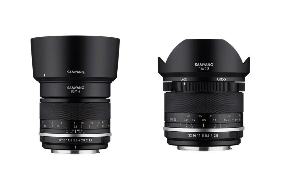 Samyang MF 85mm f/1.4 II and MF 14mm f/2.8 II Lenses Announced