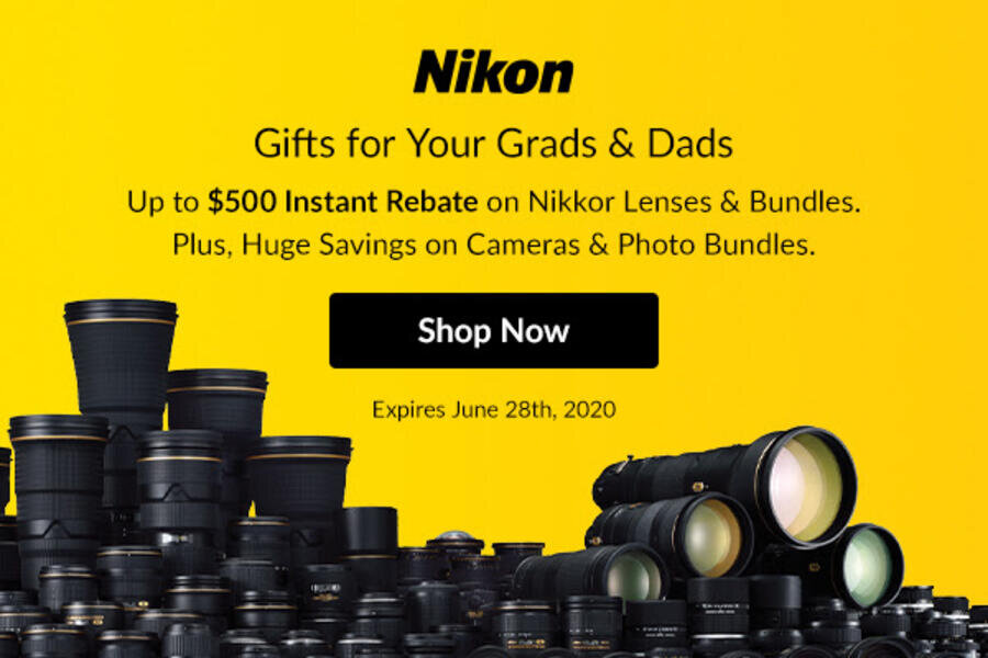 Nikon Instant Rebates : Up to $500 off on Nikon Lenses & $600 off on Nikon Z6