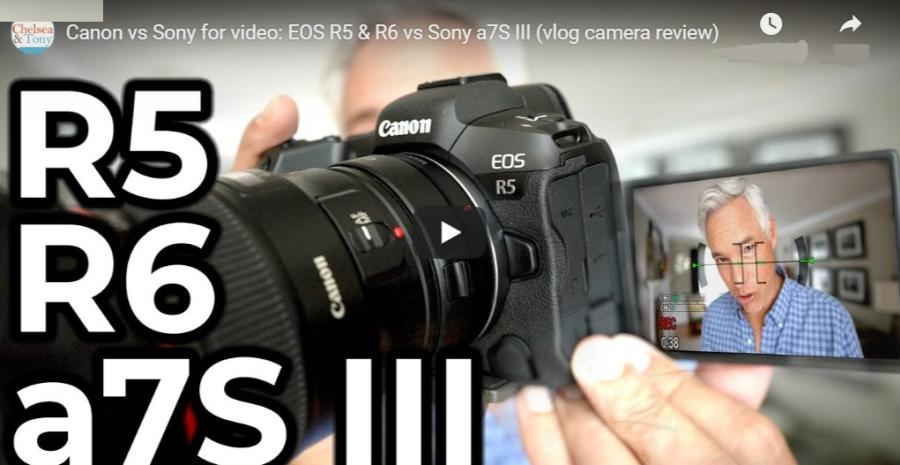 Canon EOS R5 vs EOS R6 vs Sony a7S III Video Comparison Review