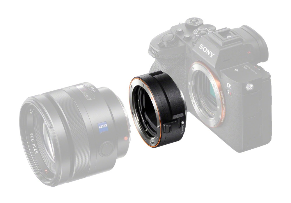 "Sony Updated A-mount to E-mount Lens Adapter with ""LA-EA5"""