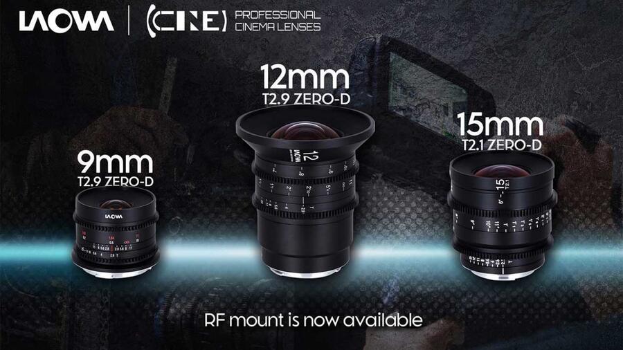 Venus Optics Announced 3 New Ultra Wide Cinema Lenses for RF Mount Canon FF MILCs