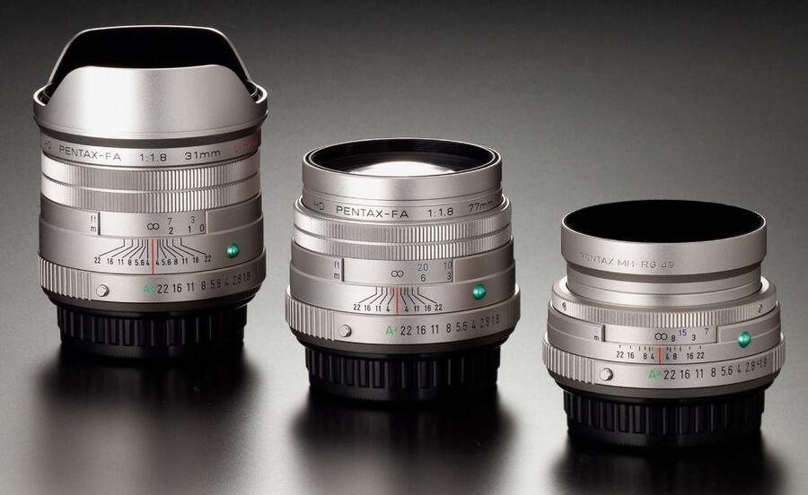 Three HD PENTAX-FA Limited Lenses & New Pentax K-1 Mark II J Limited 01 Camera Coming Soon