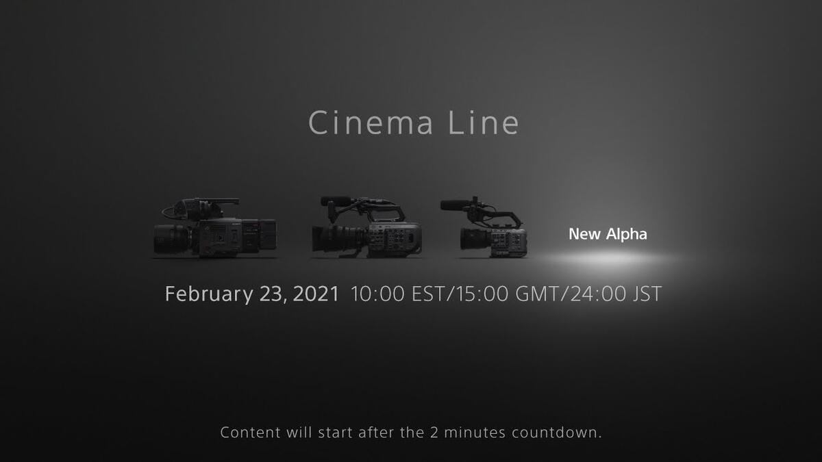 Confirmed : Sony FX3 Announcement on February 23, 12MP, 4K120p, No ND Filter