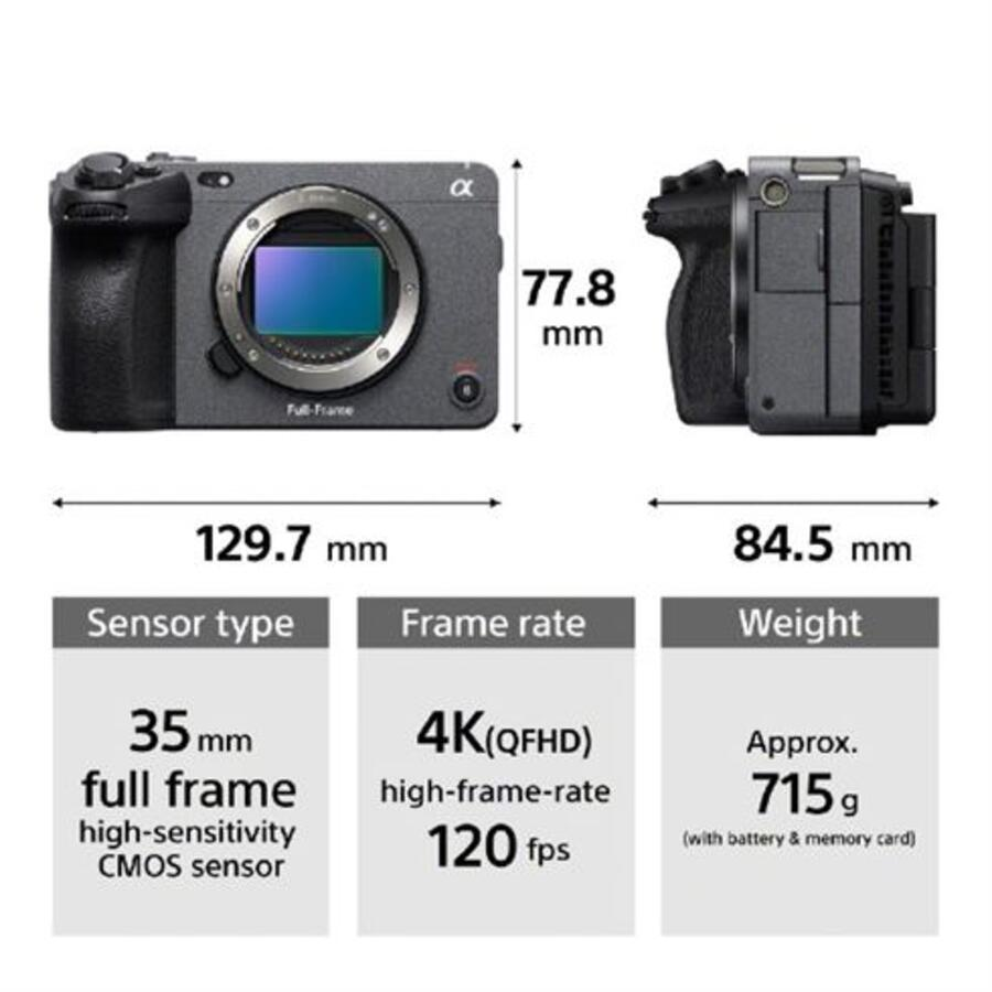 Sony FX3 Product Images: 12MP, 4K120p, No ND