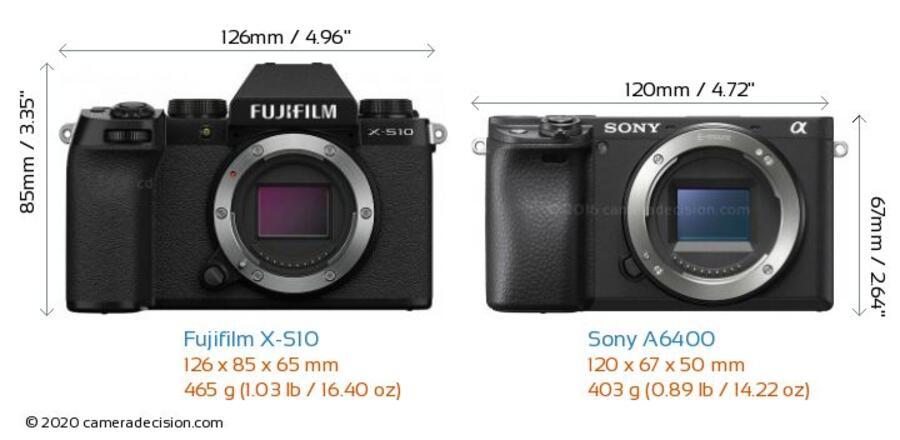 Sony a6400 vs Fujifilm X-S10 Review and Comparison