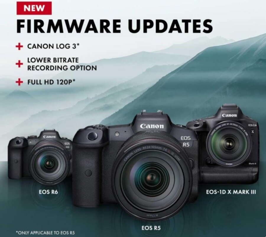 New Canon Firmware Updates Released for EOS R5, R6, EOS-1D X Mark III