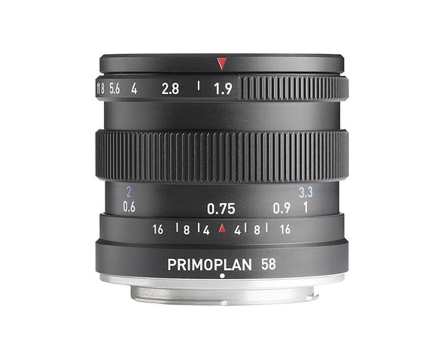 Primoplan 58mm F1.9 II Lens for Canon EF, Nikon F, MFT, Pentax K, Sony E, Fuji X, Leica M & L