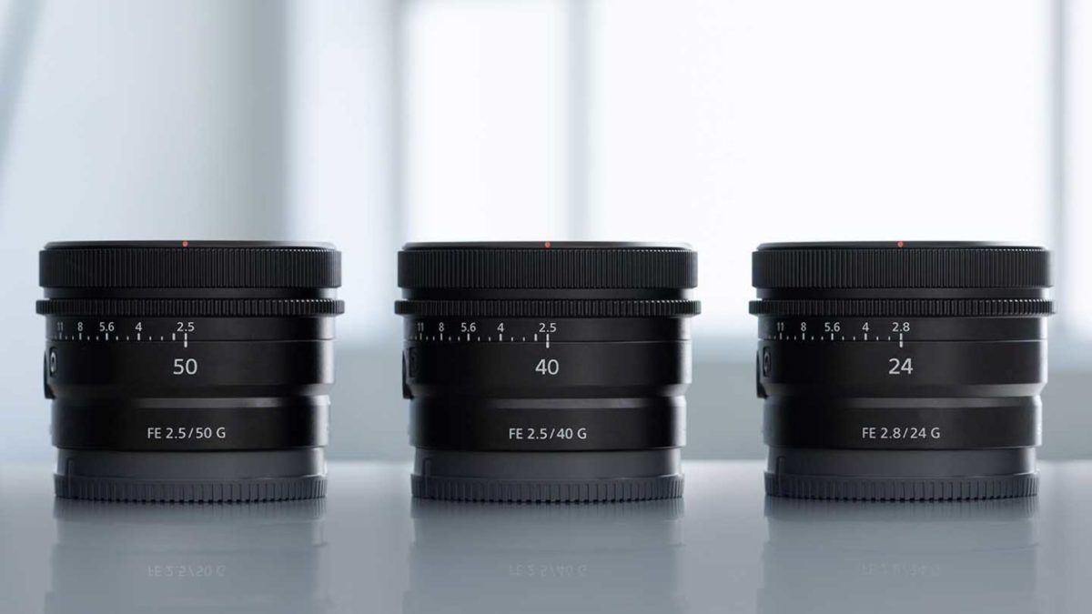 First Impressions : Sony FE 50mm F2.5 G, 40mm F2.5 G, and 24mm F2 .8 G Lenses