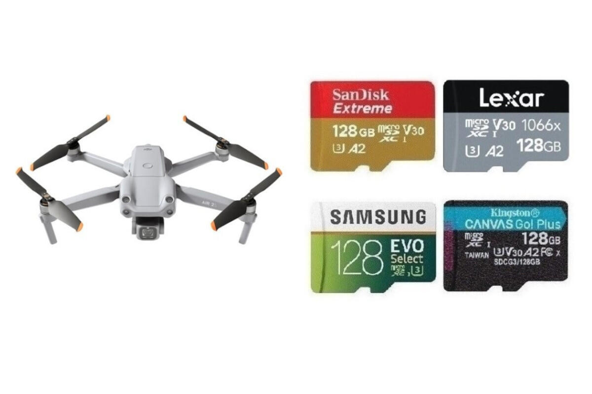 Best Memory Cards for DJI Air 2S Drone
